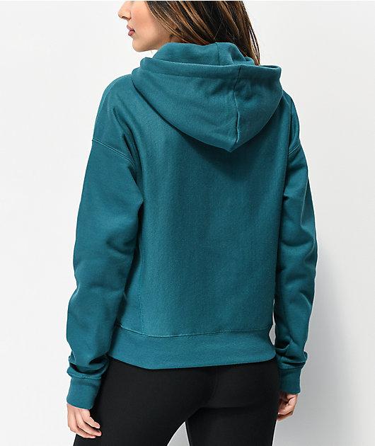 Champion Reverse Weave Jade Green Hoodie