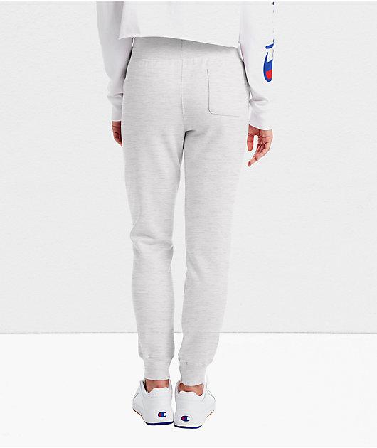 Champion Reverse Weave Light Grey Jogger Sweatpants