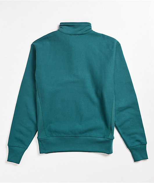 Champion Reverse Weave Oversized Gem Jade Quarter Zip Sweatshirt