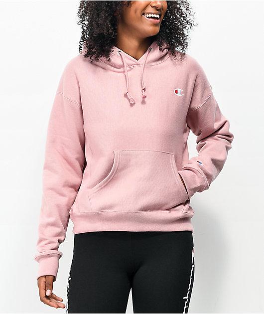 Champion Reverse Weave Pink Beige Hoodie