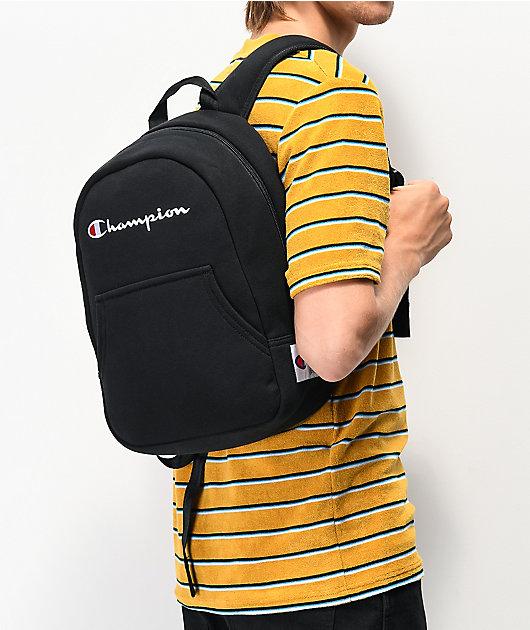 Champion Reverse Weave Pullover Black Mini Backpack