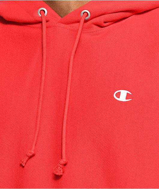 Champion Reverse Weave Red Hoodie
