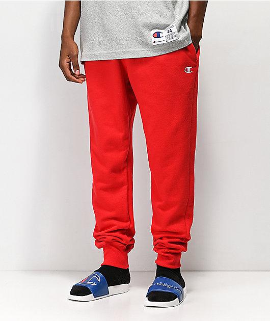 Champion Men/'s Reverse Weave Jogger Heavy Sweatpants Burgundy Red Mens Size 2XL