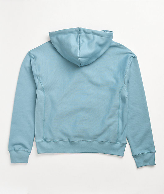 Champion Reverse Weave Small C Cornflower Blue Hoodie