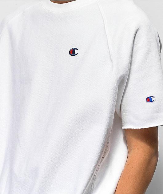 Champion Reverse Weave White Crew Neck T-Shirt