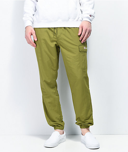 Champion Ripstop Olive Cargo Jogger Pants