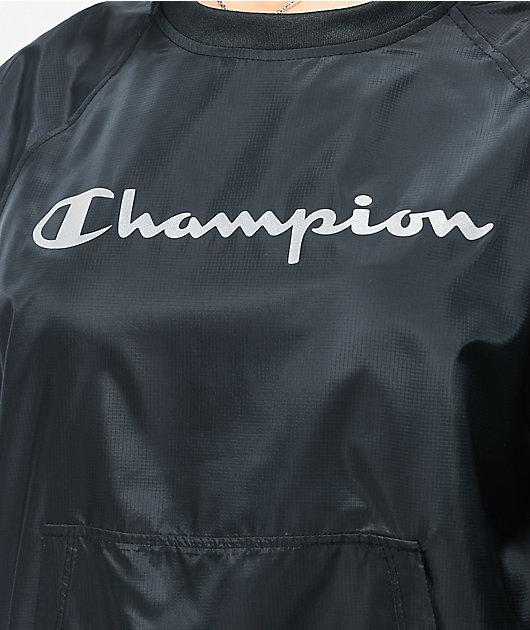Champion Ripstop sudadera negra con cuello redondo