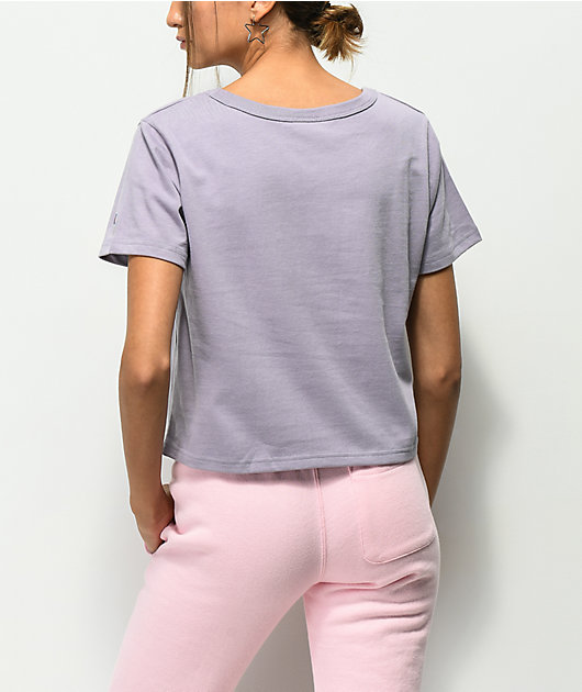 Champion Script Lilac Crop T-Shirt