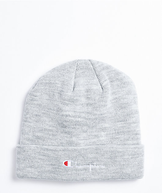 Champion Script Oxford Grey Cuffed Beanie