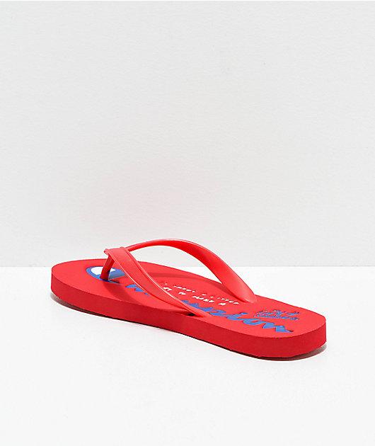 Champion Script Red Sandals