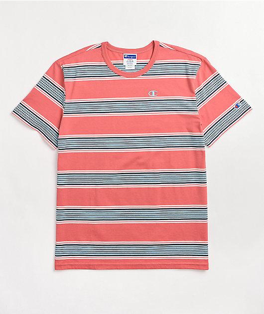Champion Siesta Pink & Blue Stripe T-Shirt