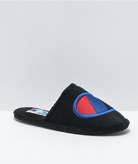 Champion Sleepover Black Slippers