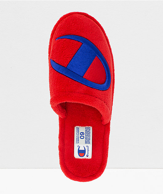 Champion Sleepover Scarlet Red Slippers