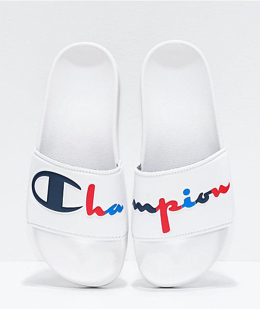Champion Split Script sandalias blancas