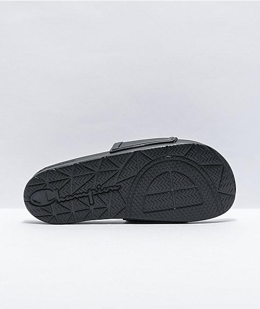 Champion Squish Black & Concrete Slide Sandals