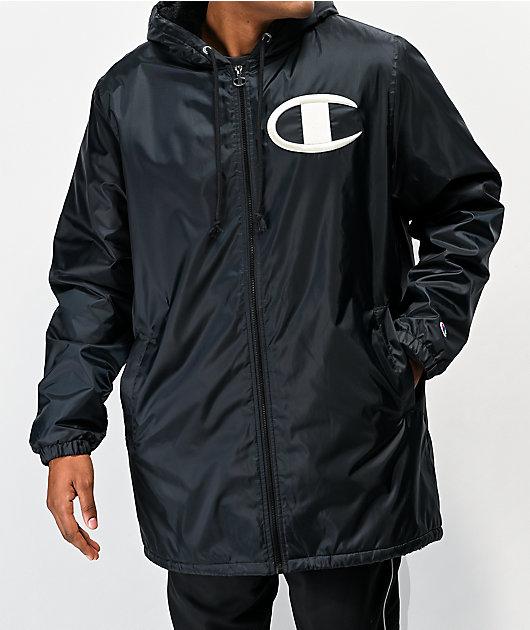 Champion Stadium Black Puffer Jacket