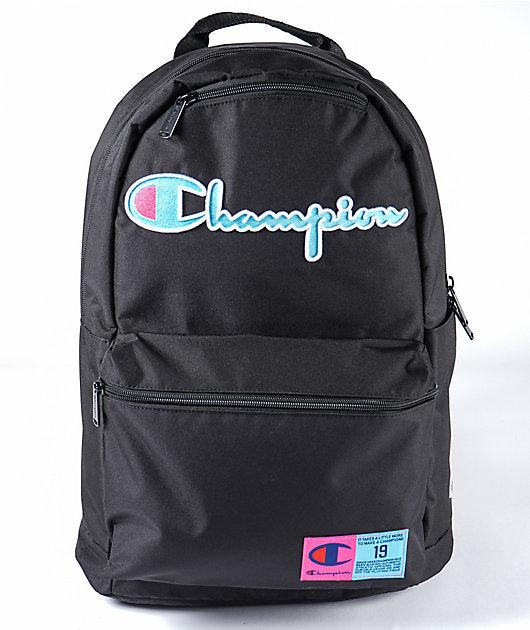 Champion Supercize 3.0 Black, Blue & Pink Backpack