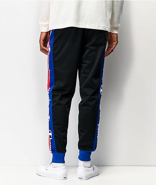 Champion Taped Black Tricot Track Pants