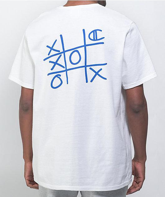 Champion Tic Tac Toe Graphics White T-Shirt