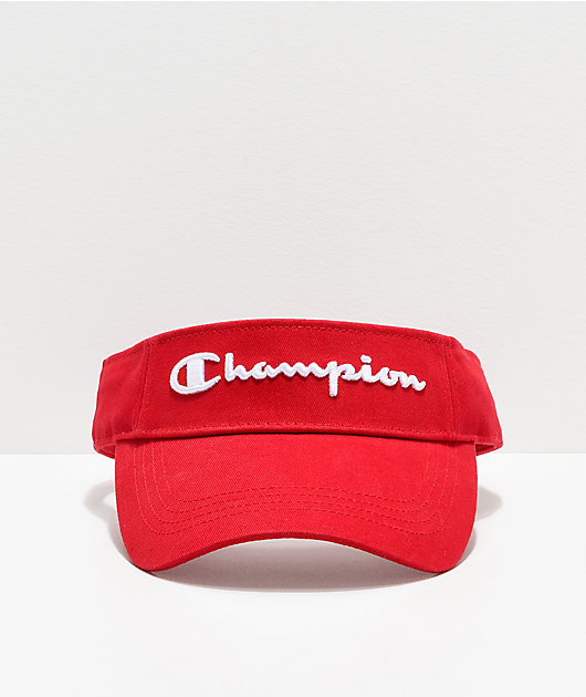 Champion Twill Mesh Scarlet Red Visor