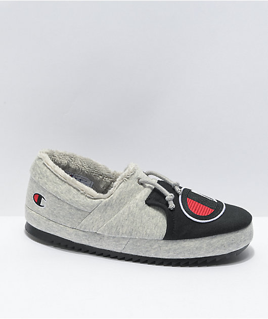Champion University CB II Grey & Black Slippers
