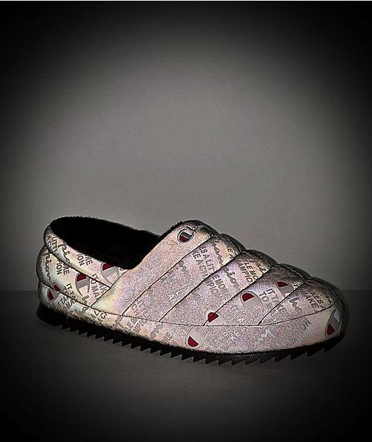Champion Varsity Reflective Black & White Slippers