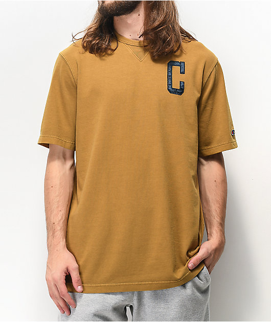 Champion Vintage Wash camiseta dorada