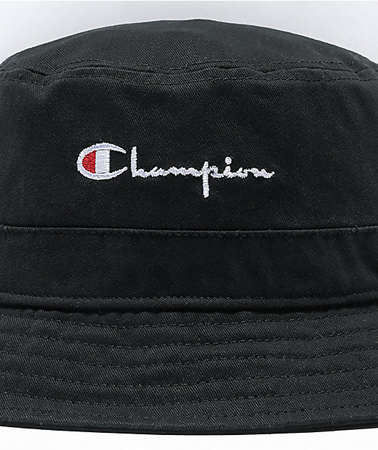 Champion Washed Black Bucket Hat