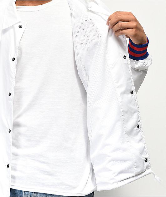 Champion White Coaches Jacket
