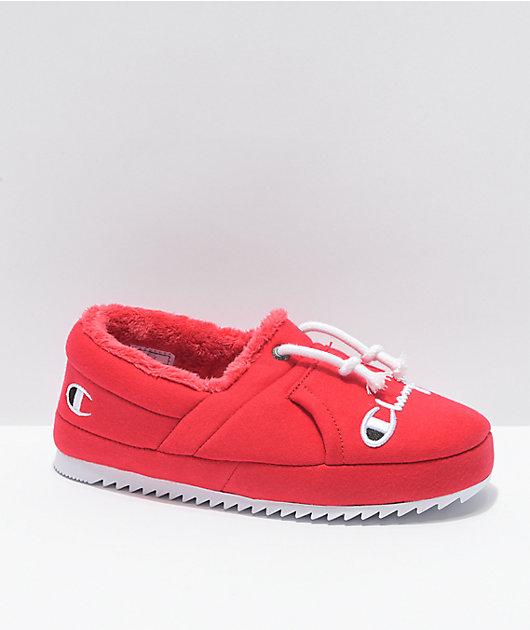 Champion Women's University Scarlet Slippers