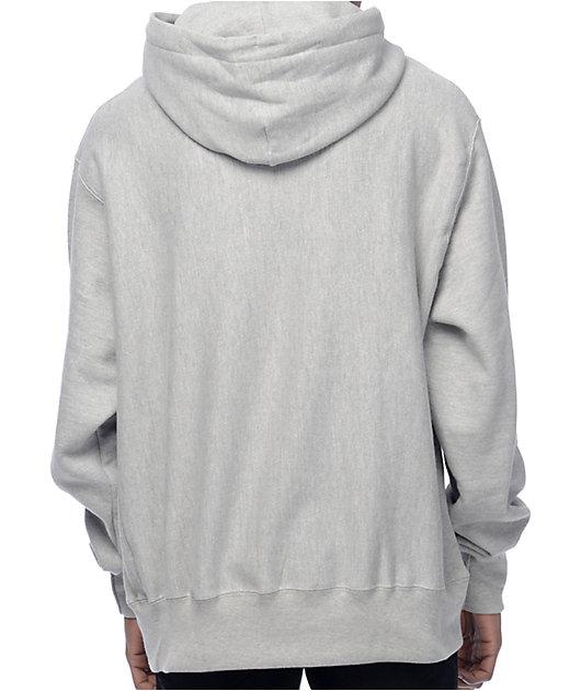 Champion sudadera con capucha gris de tejido inverso