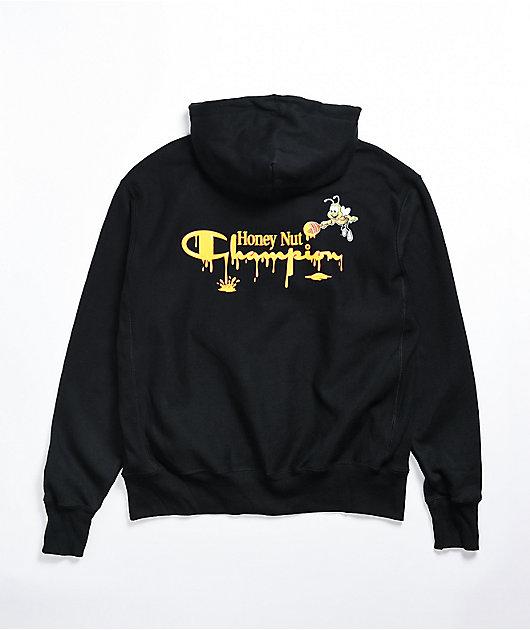 Champion x General Mills Cheerios Reverse Weave Black Hoodie