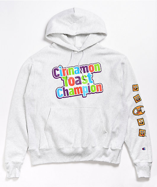 Champion x General Mills Crunch Reverse Weave Grey Hoodie
