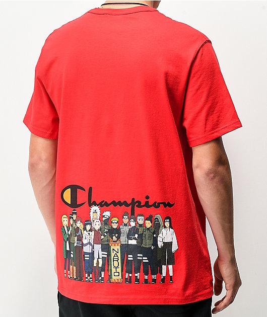 Champion x Naruto Group Red T-Shirt