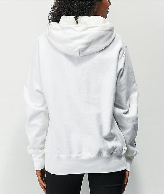 Champion x Naruto Uzumaki Reverse Weave White Hoodie