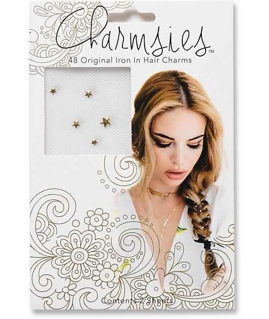 Charmsies Gold Star Hair Charms