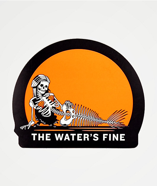 Chomp The Water's Fine Sticker