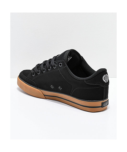 Circa Lopez 50 Black & Gum Skate Shoes