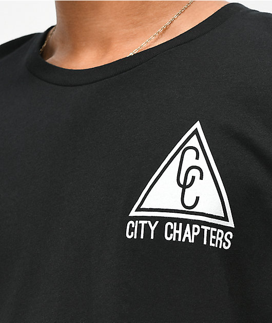 City Chapters Portland Stack Black T-Shirt