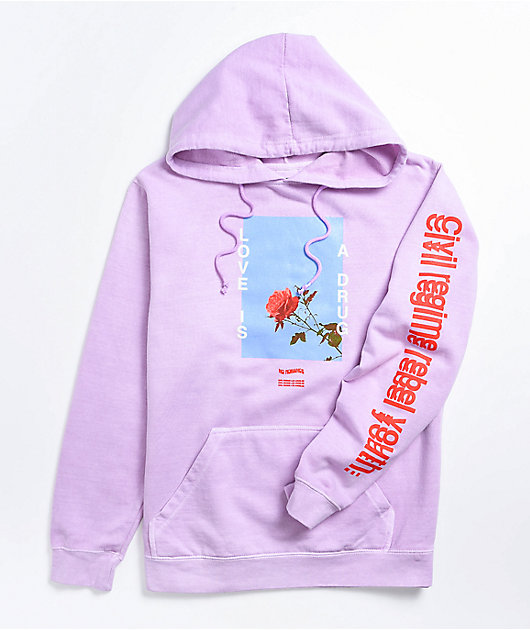 Civil Love Is A Drug Orchid Hoodie