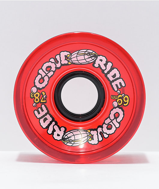 Cloud Ride Red 69mm 78a Cruiser Wheels