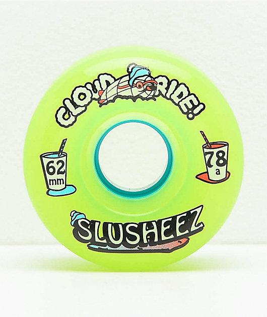 Cloud Ride Slusheez Lime 62mm 78a Cruiser Wheels