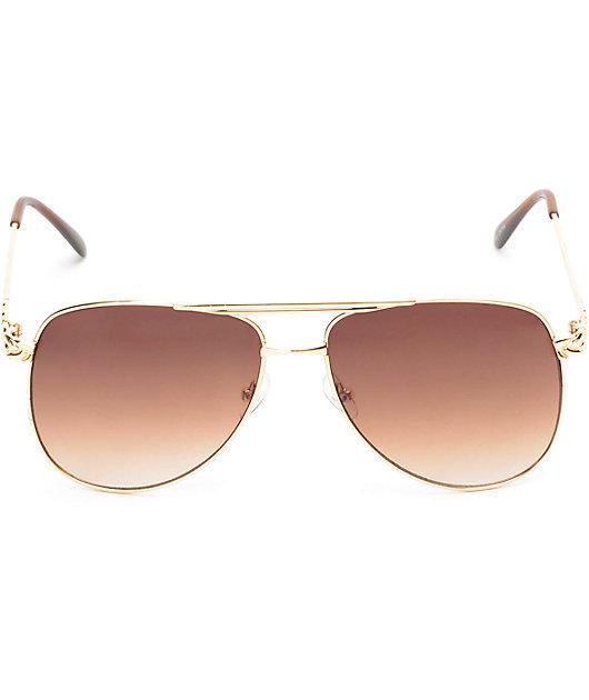 Clubmaster gafas de sol en color marrón