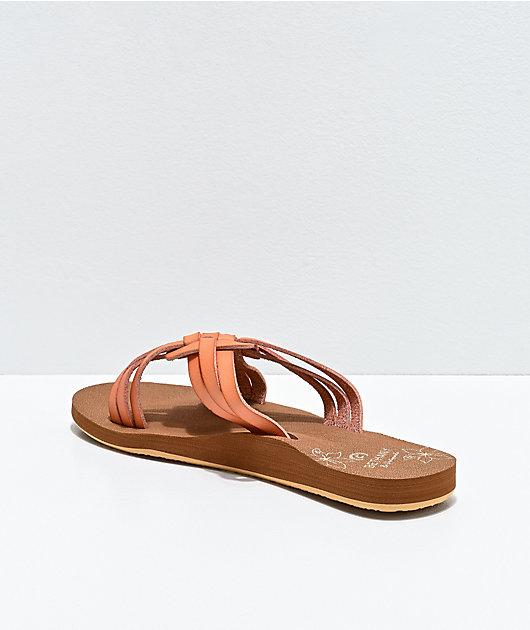 Cobian Mahalo Multi-Strap Nude Brown Sandals
