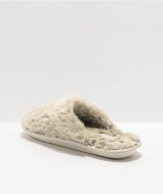 Cobian Minou Leopard Mule Slippers