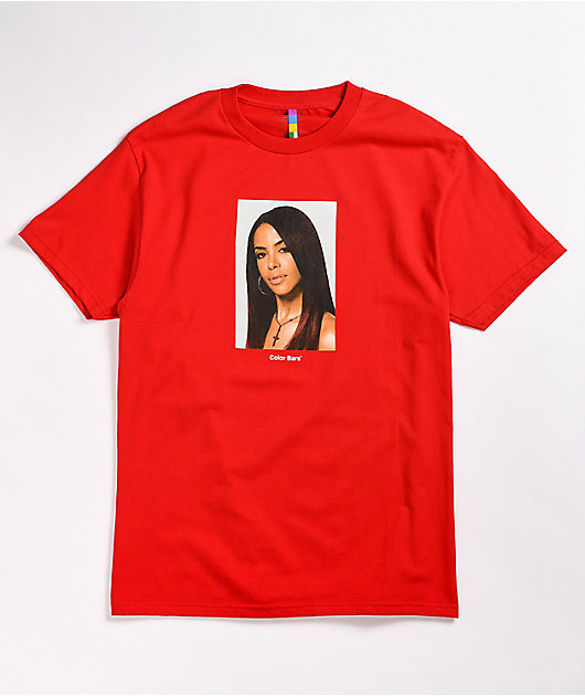 Color Bars x Aaliyah Red T-Shirt