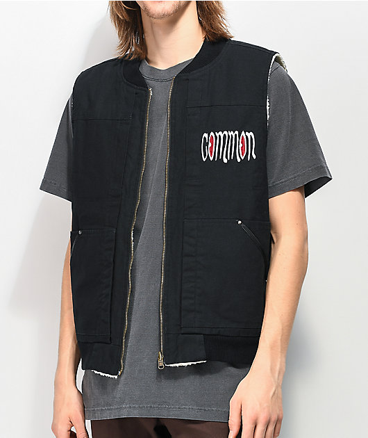 Common Bloodshot chaleco negro reversible
