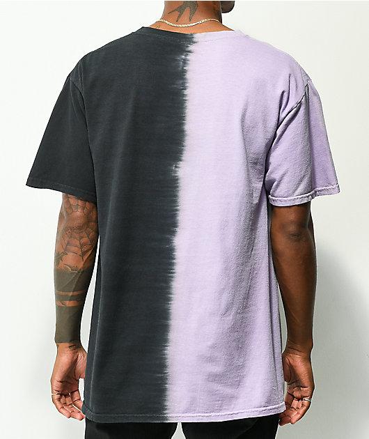 Coney Island Picnic A New Era Black & Lavender Tie Dye T-Shirt