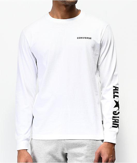 white long converse