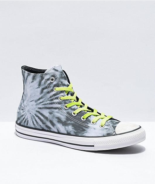 Converse CTAS Black Tie Dye & Lemongrass High Top Shoes